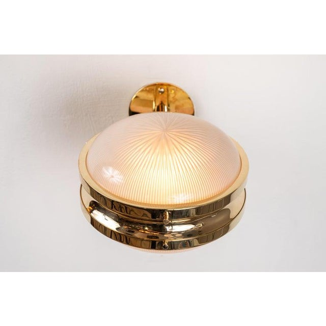 1960s Sergio Mazza Brass 'Gamma' Wall or Ceiling Lights for Artemide For Sale - Image 9 of 13