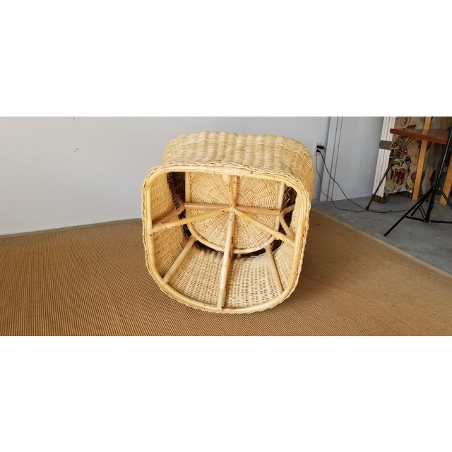 Vintage Woven Wicker Club Chair For Sale - Image 10 of 11