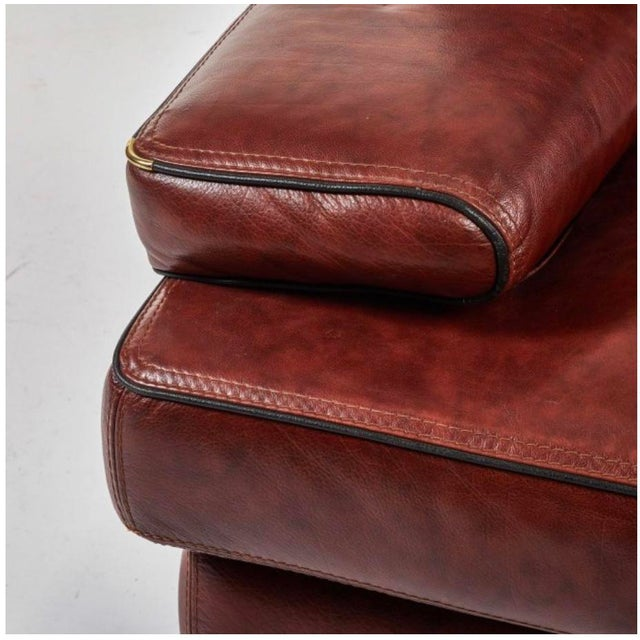 Saporiti Italia Saporiti Italia Leather Chair For Sale - Image 4 of 4