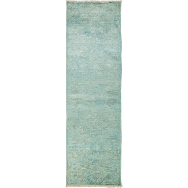 """Vibrance Hand Knotted Runner - 3'0"""" X 10'2"""" For Sale"""