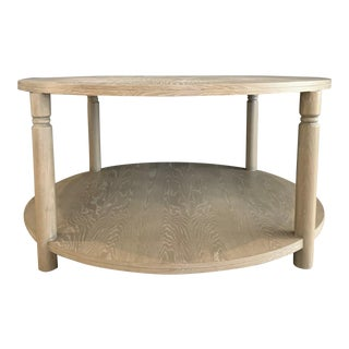 Grey Cerused Oak Silver Strand Table For Sale