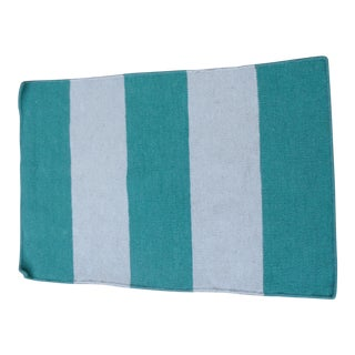 Surya 100% Wool Rug, Green and Cream Nautical Stripe - 2' x 3' For Sale