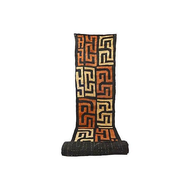 African Kuba Textile Raffia Wall Hanging - Image 6 of 9
