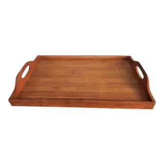 Vintage Bamboo Serving Tray For Sale