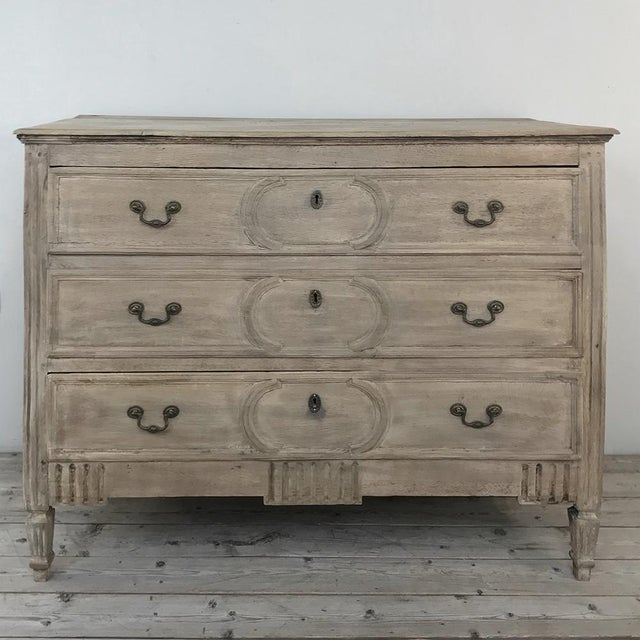 18th Century Country French Stripped Oak Commode For Sale - Image 13 of 13