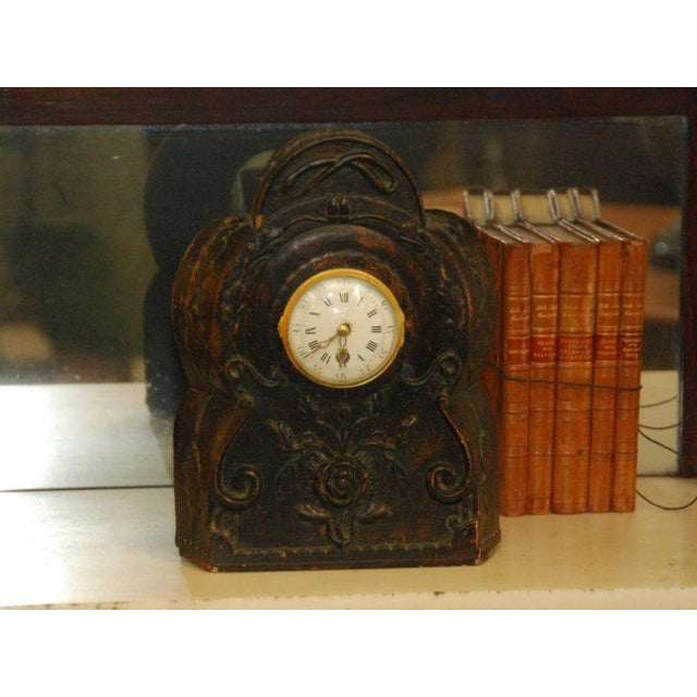 French 19th Century Clock with modern clock, a great decorative piece.