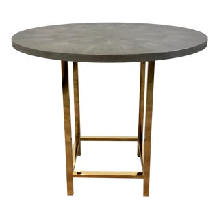 Made Goods Modern Gray Faux Shagreen Esme Entry Table For Sale