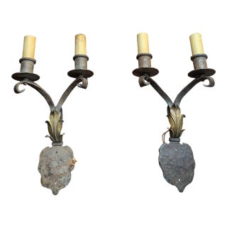 Hand Wrought 1920's Spanish Revival Sconces - a Pair For Sale