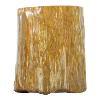Petrified Wood Stool or Side Table For Sale