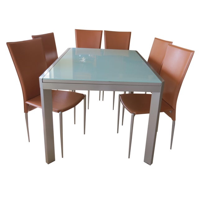 Calligaris Extendable Tempered Glass Dining Set - Image 1 of 11