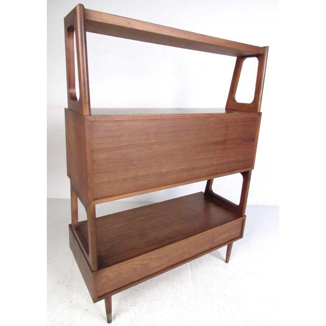 Paul McCobb Freestanding Vintage Walnut Bookshelf For Sale - Image 4 of 11