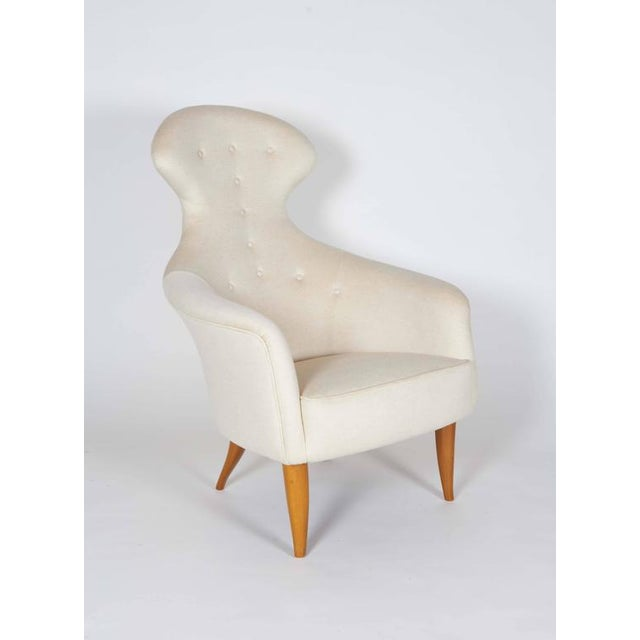 "Contemporary ""big Eva"" Lounge Chair and Ottoman by Kerstin Hörlin-holmquist For Sale - Image 3 of 10"
