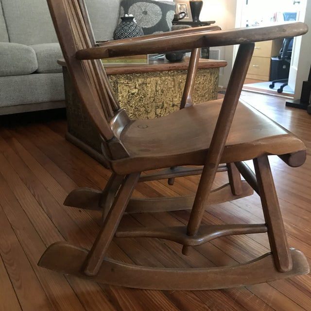 American Herman De Vries for Sikes Furniture Colonial American High-Back Rocking Chair For Sale - Image 3 of 11