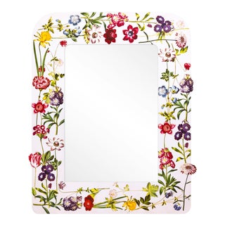 Fleur Home x Chairish Liz Marsh Floral Sprinkle Mirror For Sale