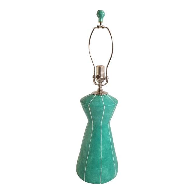 Handmade Turquoise Green Table Lamp by kRI kRI Studio For Sale