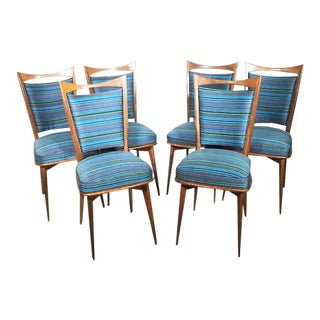 1960s Vintage Danish Dining Chairs- Set of 6 For Sale
