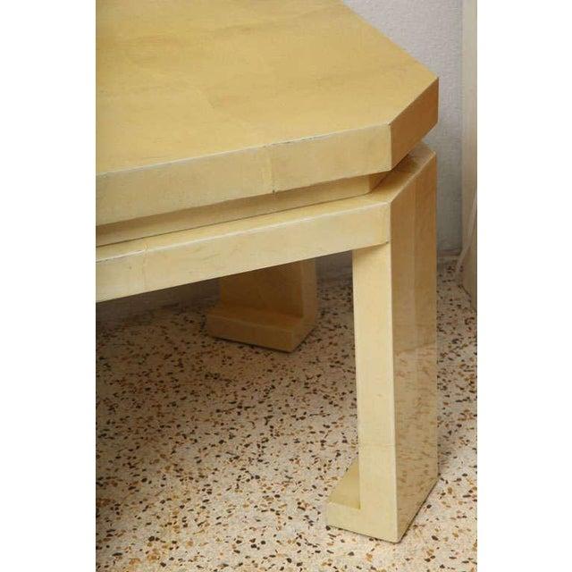 Enrique Garces Large Enrique Garces Parchment End Table For Sale - Image 4 of 10