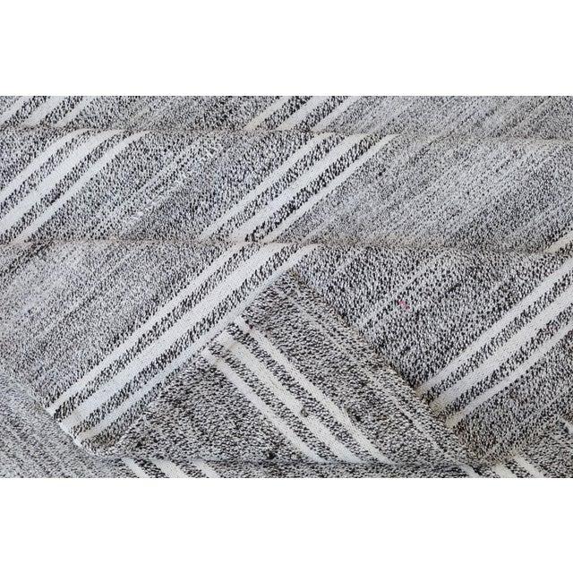 "Turkish Vintage Flat-Weave Textile - 7'3"" X 10' - Image 4 of 4"