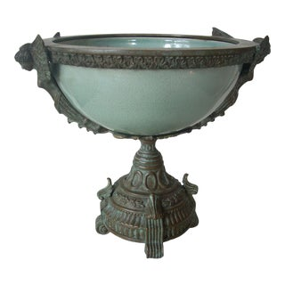 Classical Style Celedon Cachepot For Sale