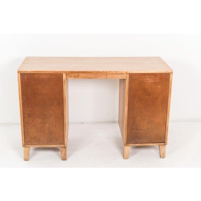 Conant Ball 1940s Mid-Century Modern Russel Wright for Conant Ball Maple Partner Desk For Sale - Image 4 of 10