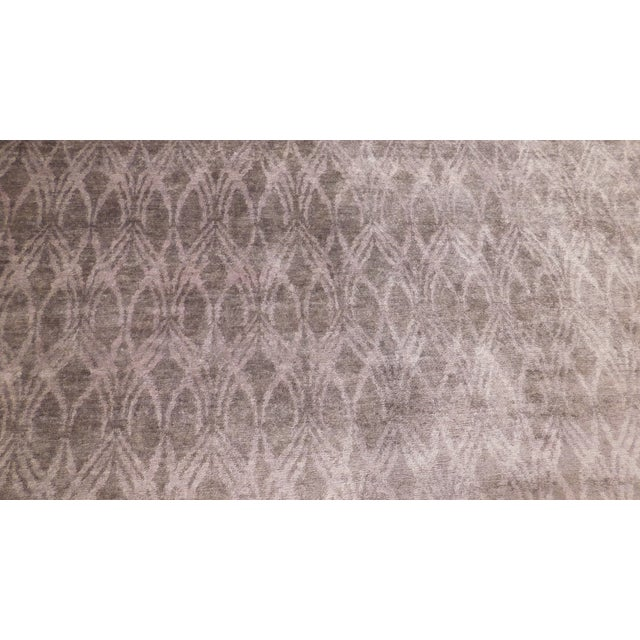 """Modern Hand-Knotted Bamboo Silk Rug - 9'3"""" X 11'6"""" For Sale - Image 4 of 5"""