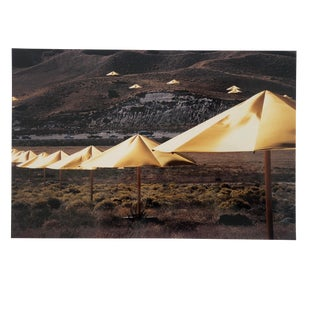 Color Photo of Christo & Jeanne Claude's the Umbrellas by Garo 1991 For Sale