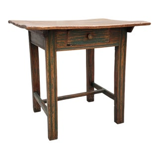 Antique Rustic Eastern European Single Drawer Side Table For Sale