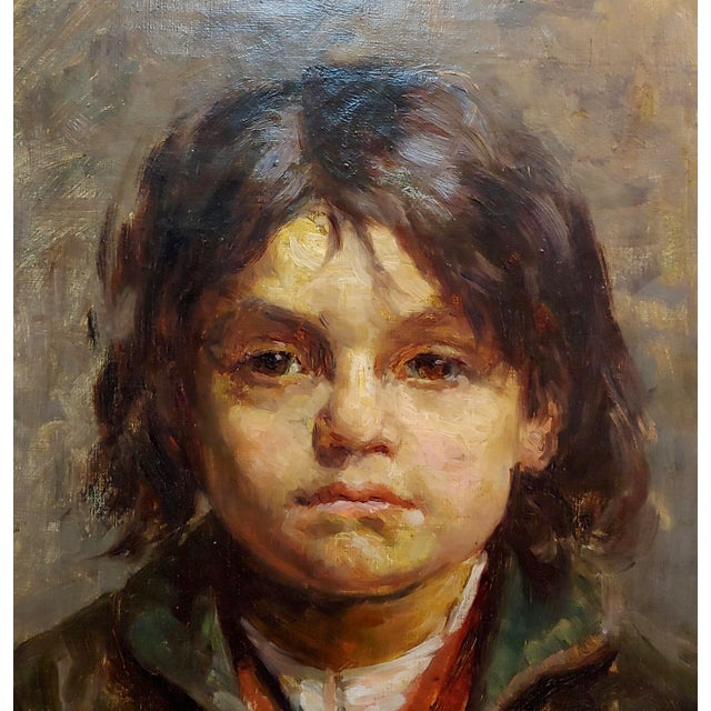 Portrait of a Brat - 19th Century German Oil Painting For Sale - Image 4 of 9
