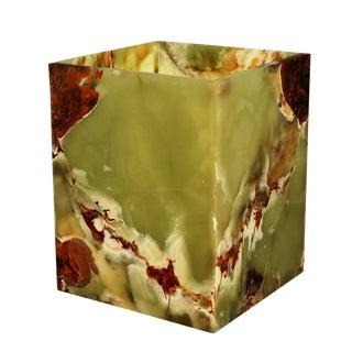 Green Marble Waste Bin For Sale