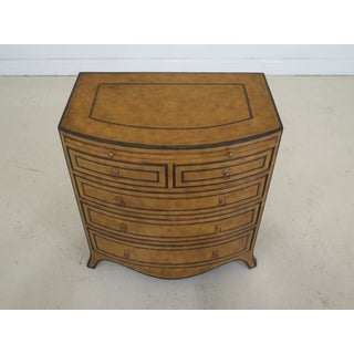 1990s Art Deco Maitland Smith Bow Front Leather Bachelor Chest Preview