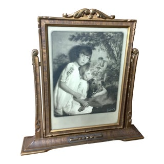 Art Deco Table-Top Swing Picture Frame