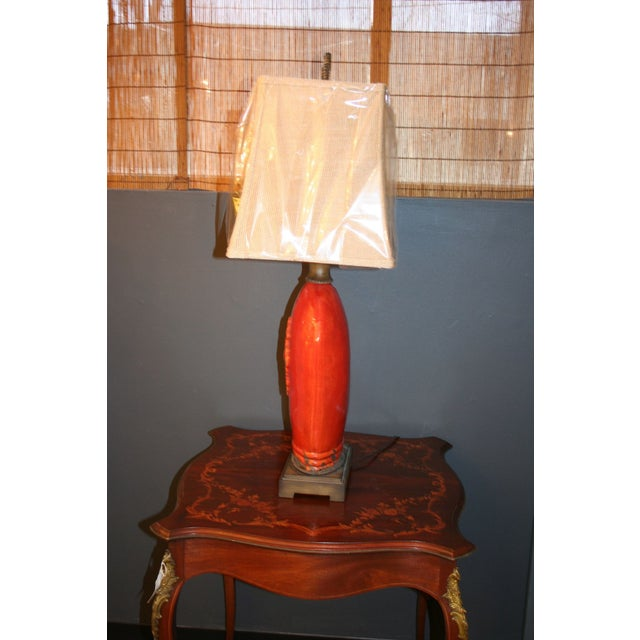 Large Tuscan Red Table Lamp - Image 4 of 10