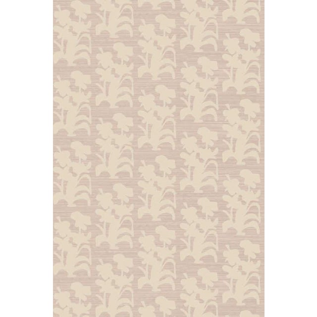 Angela Simeone Suzani Floral Large Lilac and Natural Wallpaper For Sale - Image 4 of 4