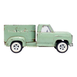 Vintage Light Green Toy Horse Carrier Truck Photograph