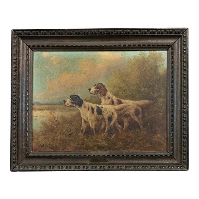 19th Century Framed Oil Painting on Canvas by Paul Schouten For Sale