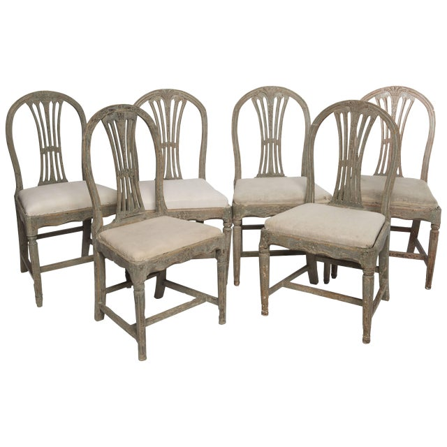 Set of Six Gustavian Chairs For Sale