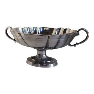 Vintage Polished Aluminum Urn Style Fruit Bowl For Sale