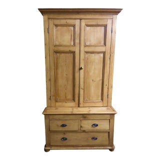 Vintage English, Linen Press, Circa 1880's For Sale