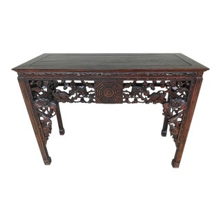 19th Century Chinese Export Hardwood Altar Table For Sale