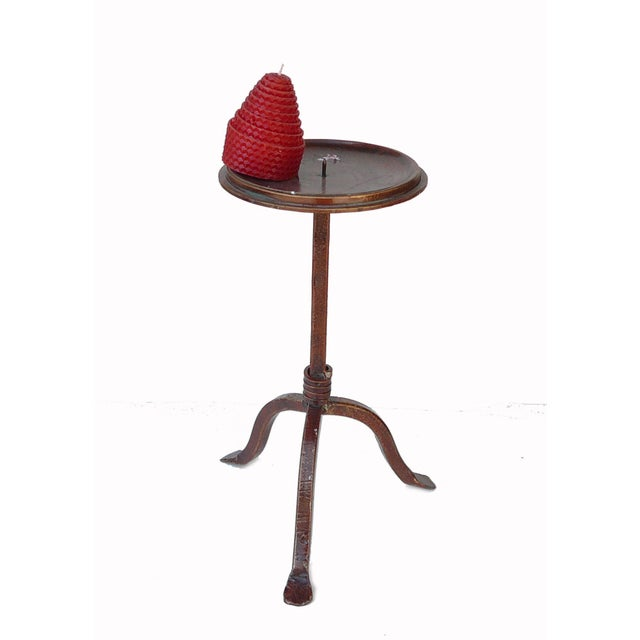 Modern Decorative Table Top Metal Bronze Candle Holder For Sale - Image 3 of 5
