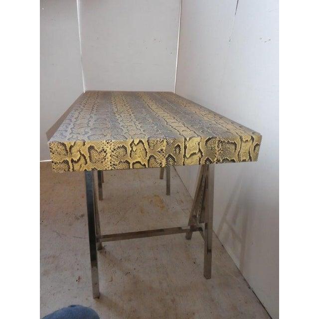 Modern Modern Snake Skin Writing Desk For Sale - Image 3 of 10