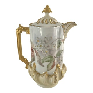 French Porcelain Coffee Pot For Sale