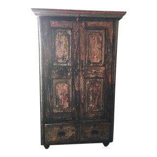 Rustic Antique Indian Armoire