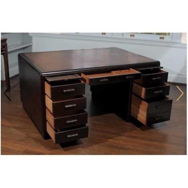 English Art Deco Period Pedestal Desk For Sale - Image 4 of 7