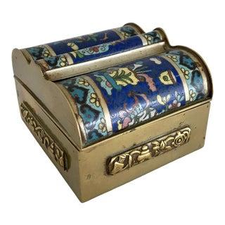 Vintage Blue Cloisonne Box