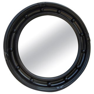 Large Black Framed Convex Mirror For Sale