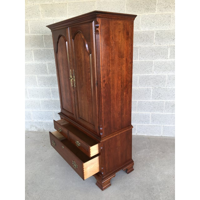 Wood Pennsylvania House Cherry Chippendale Style Armoire For Sale - Image 7 of 13