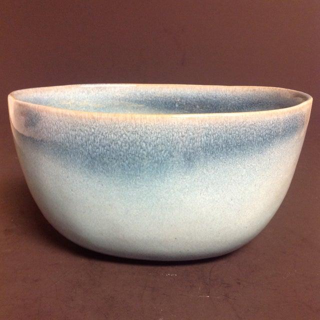 Rare Vintage Shape #37 Blue Glidden Pottery Bowl - Image 4 of 6