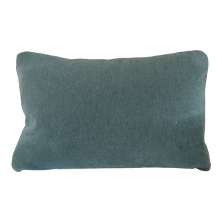 Custom George Smith Sage Green Mohair Pillow For Sale