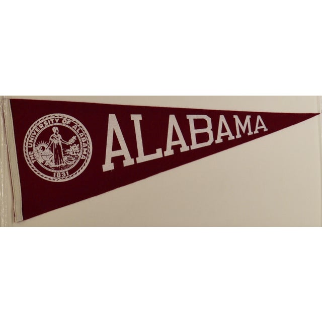 1950s Americana Alabama University Pennant - Large | Chairish